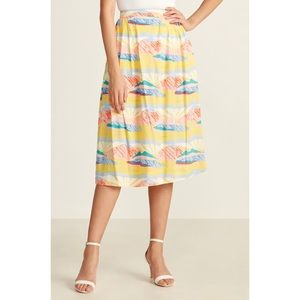 NWT Emily and Fin FAYE PAINTBOX VALLEY Midi Skirt